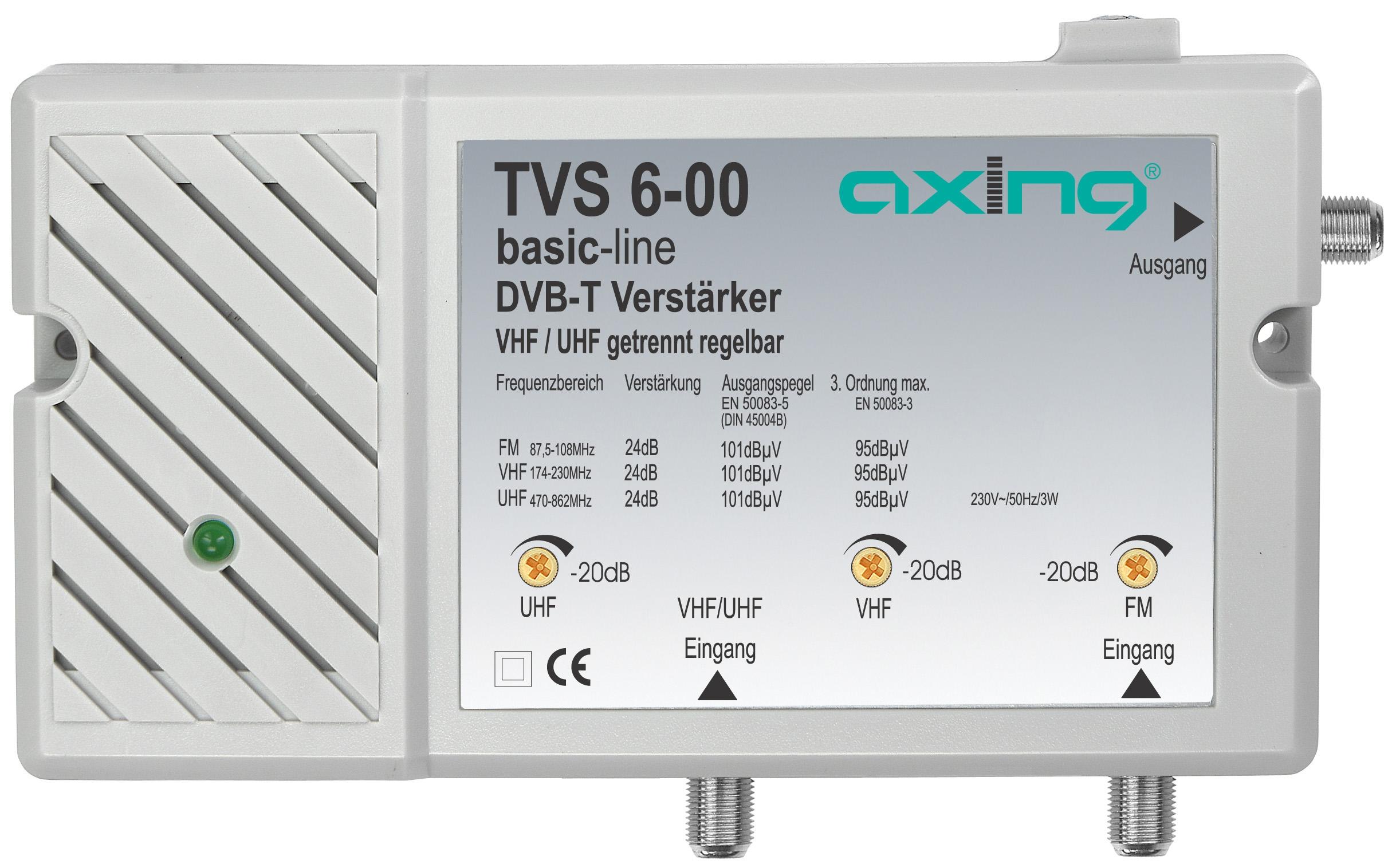 1 Stk DVB-T Verstärker 2 in 1, UKW VHF/UHF einstellbar, TVS 6-00 HSZUVT021A