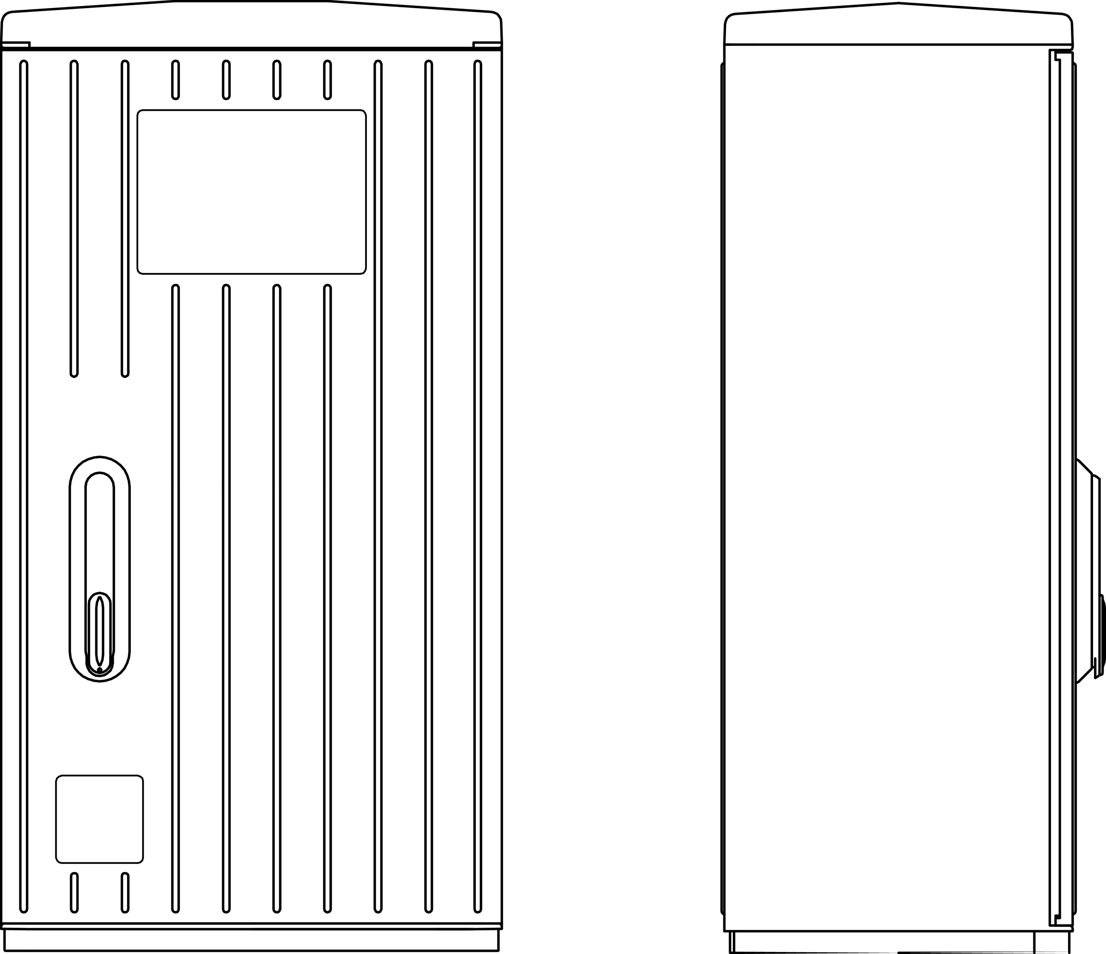 1 Stk Kabelverteilerschrank 1-türig gerippt, Gr.00X, RAL7035, IP44 IG008201--
