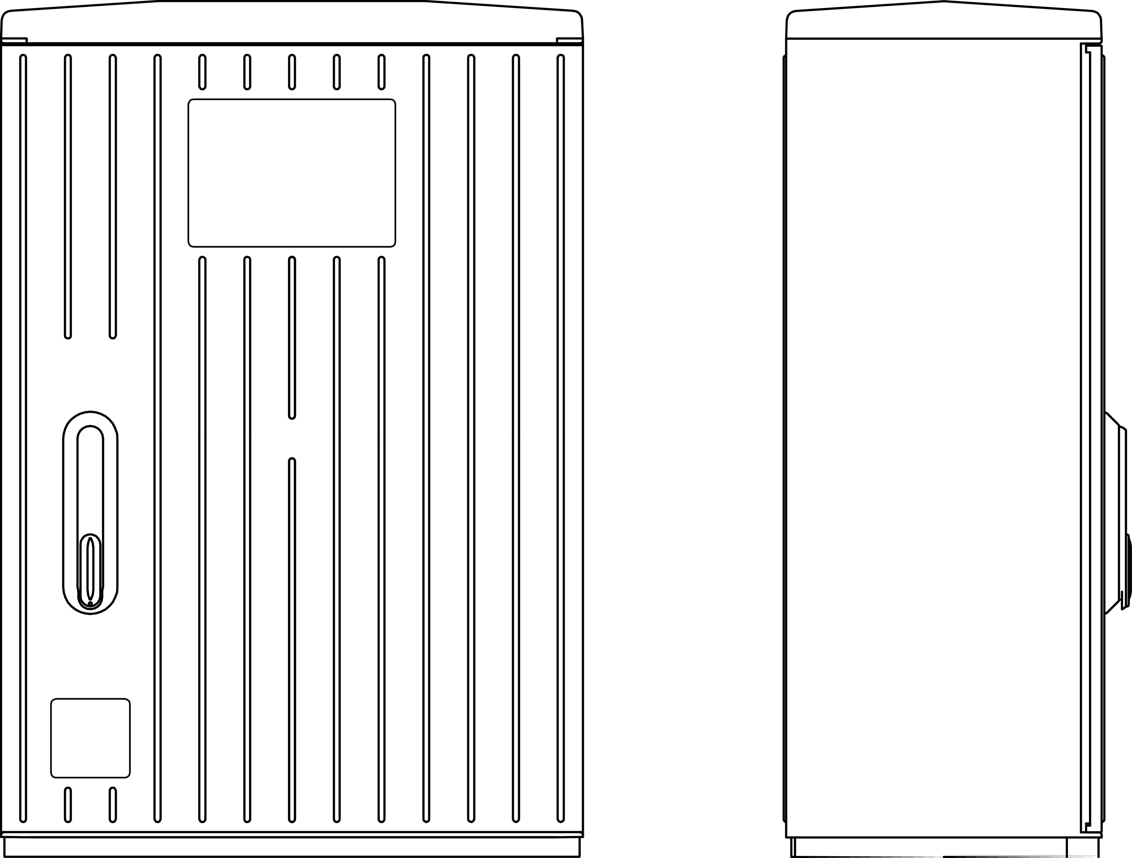 1 Stk Kabelverteilerschrank 1-türig gerippt, Gr.0X, RAL7035, IP44 IG008202--