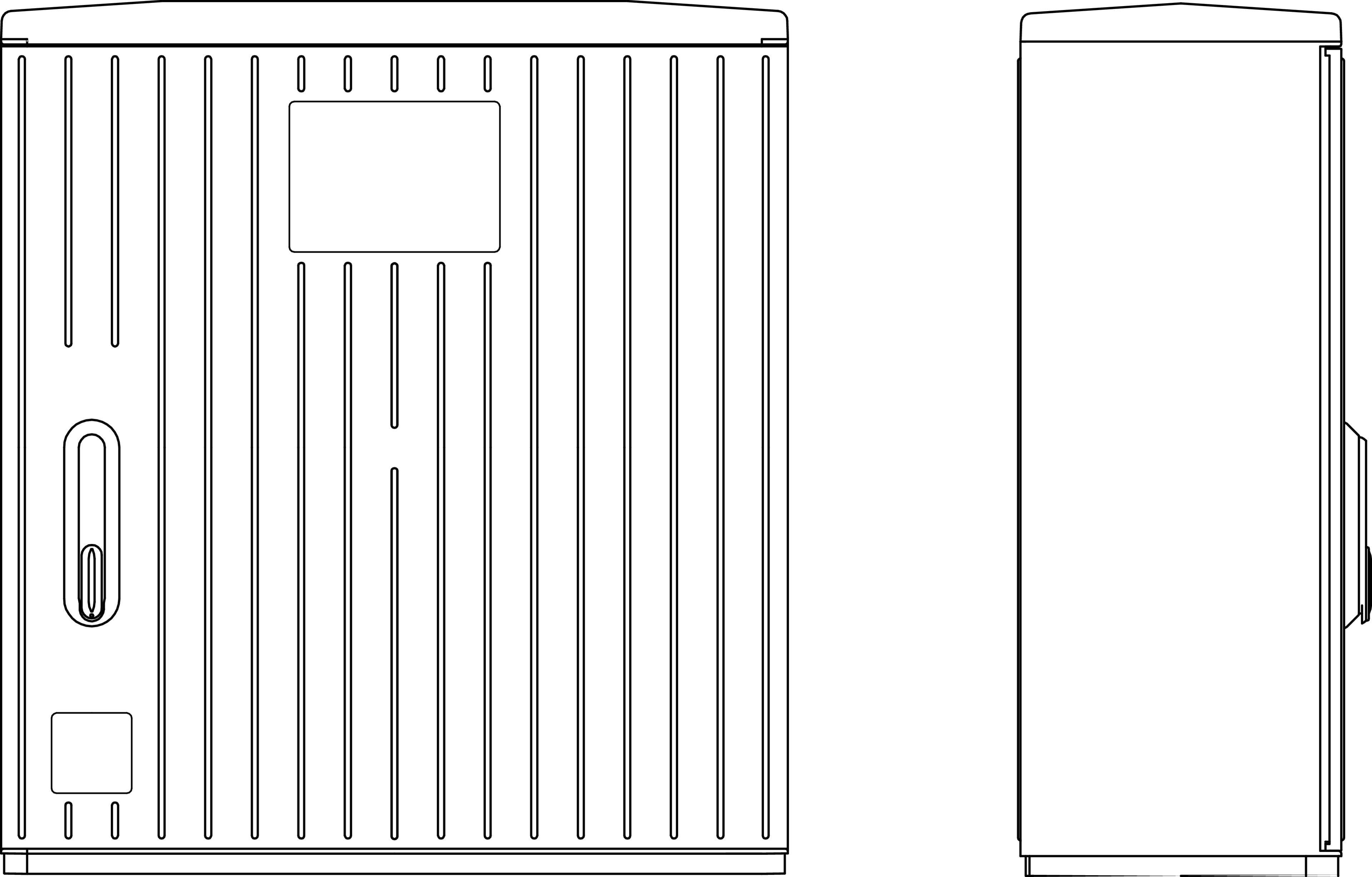 1 Stk Kabelverteilerschrank 1-türig gerippt, Gr.1X, RAL7035, IP44 IG008203--