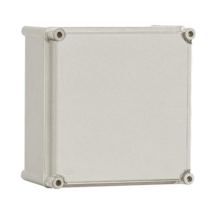 1 Stk Polyamid Gehäuse mit PC-Deckel, grau, 180x180x129mm IG181813G-