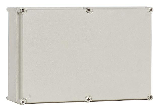 1 Stk Polyamid Gehäuse mit PC-Deckel, grau, 270x135x129mm IG271313G-