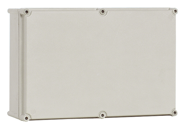 1 Stk Polyester Gehäuse mit PC-Deckel, grau, 270x180x141mm IG271814G-