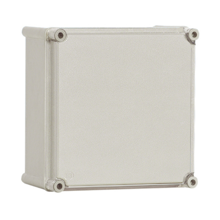 1 Stk Polyester Gehäuse mit PC-Deckel, grau, 360x360x201mm IG363620G-