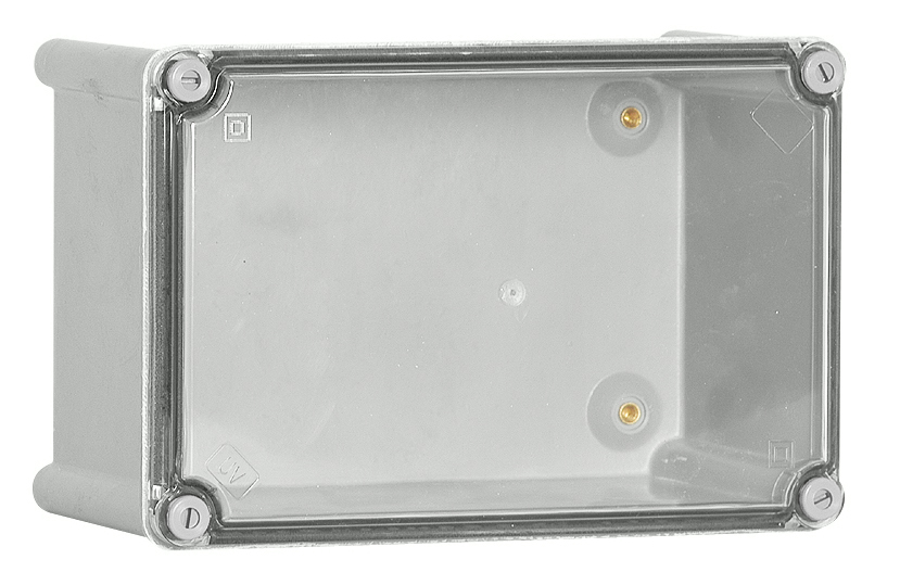 1 Stk Polyester Gehäuse mit transparenten PC-Deckel, 540x360x171mm IG543617T-