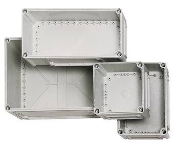 1 Stk Deckel 190x190x30, grau mit Schlitzkopfschraube IG700001--