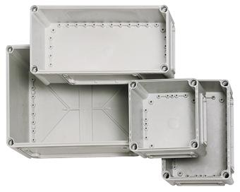 1 Stk Deckel 280x190x80, grau mit Schlitzkopfschraube IG700121--