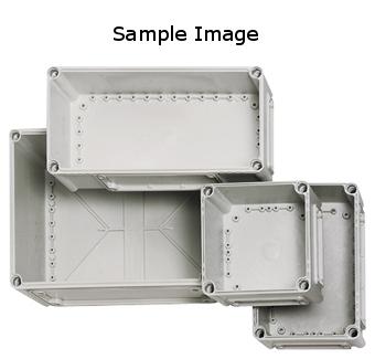 1 Stk Deckel 380x280x80, grau mit Schlitzkopfschraube IG700321--
