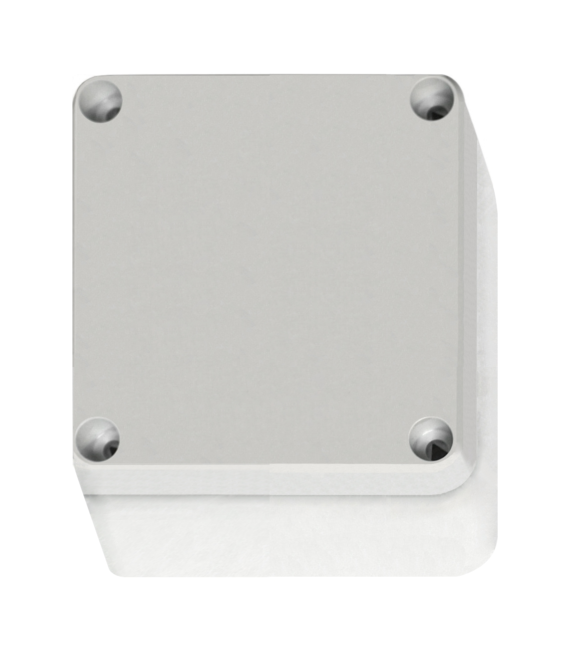 1 Stk ABS Gehäuse+Deckel grau m. Scharnier, 110x110x65mm, RAL7035 IG707001--