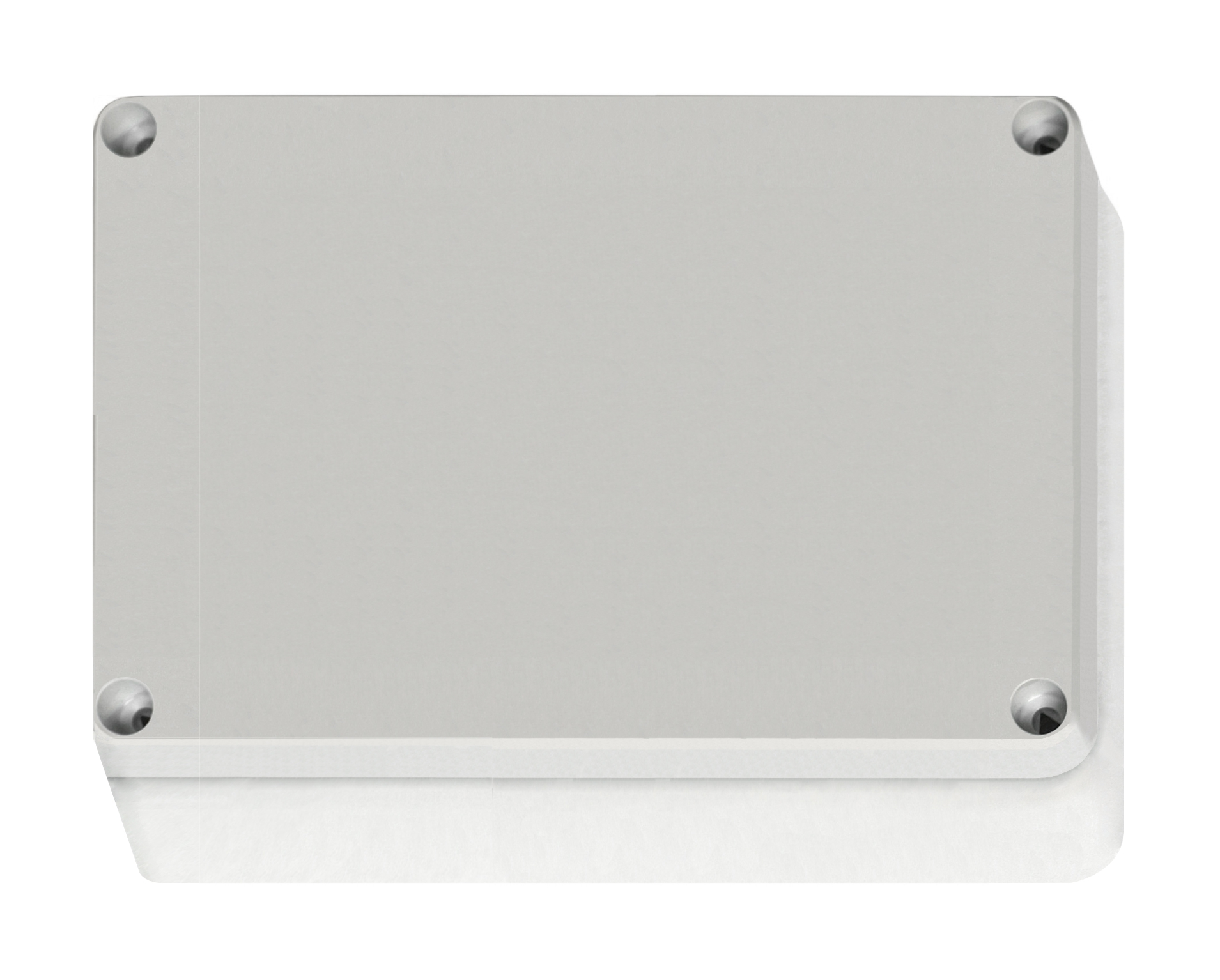 1 Stk ABS Gehäuse+Deckel grau m. Scharnier, 187x122x90mm, RAL7035 IG707004--