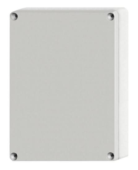 1 Stk ABS Gehäuse+Deckel grau m. Scharnier, 201x163x98mm, RAL7035 IG707005--