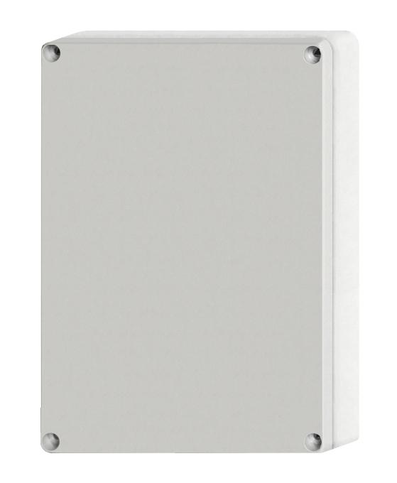 1 Stk ABS Gehäuse+Deckel grau m. Scharnier, 240x191x107mm, RAL7035 IG707006--
