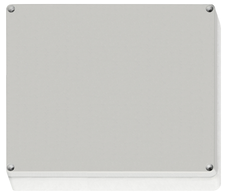 1 Stk ABS Gehäuse+Deckel grau m. Scharnier, 344x289x117mm, RAL7035 IG707008--