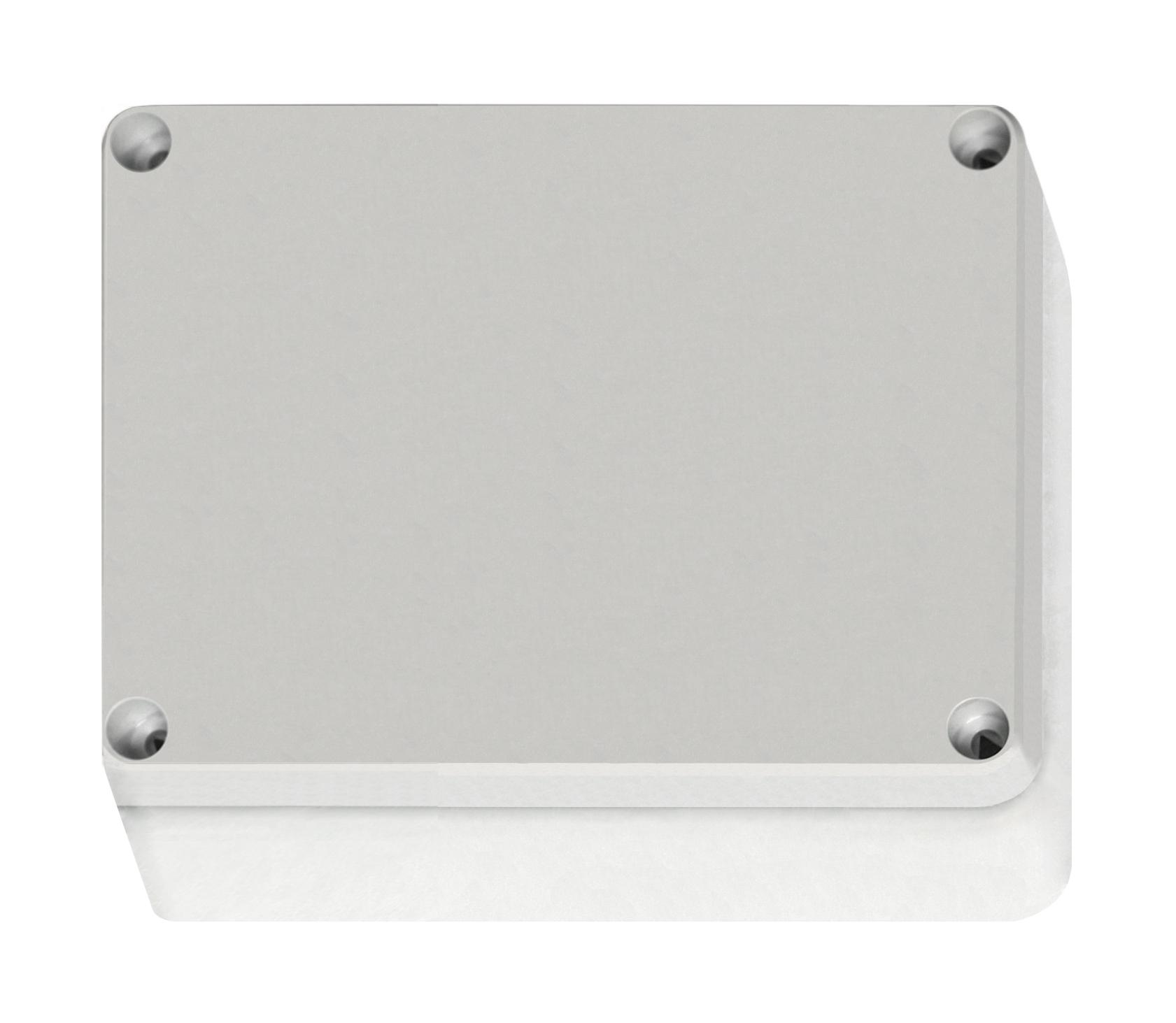 1 Stk ABS Gehäuse+Deckel grau, Scharn., 187x122x90mm, metr. Vorp. IG707024--