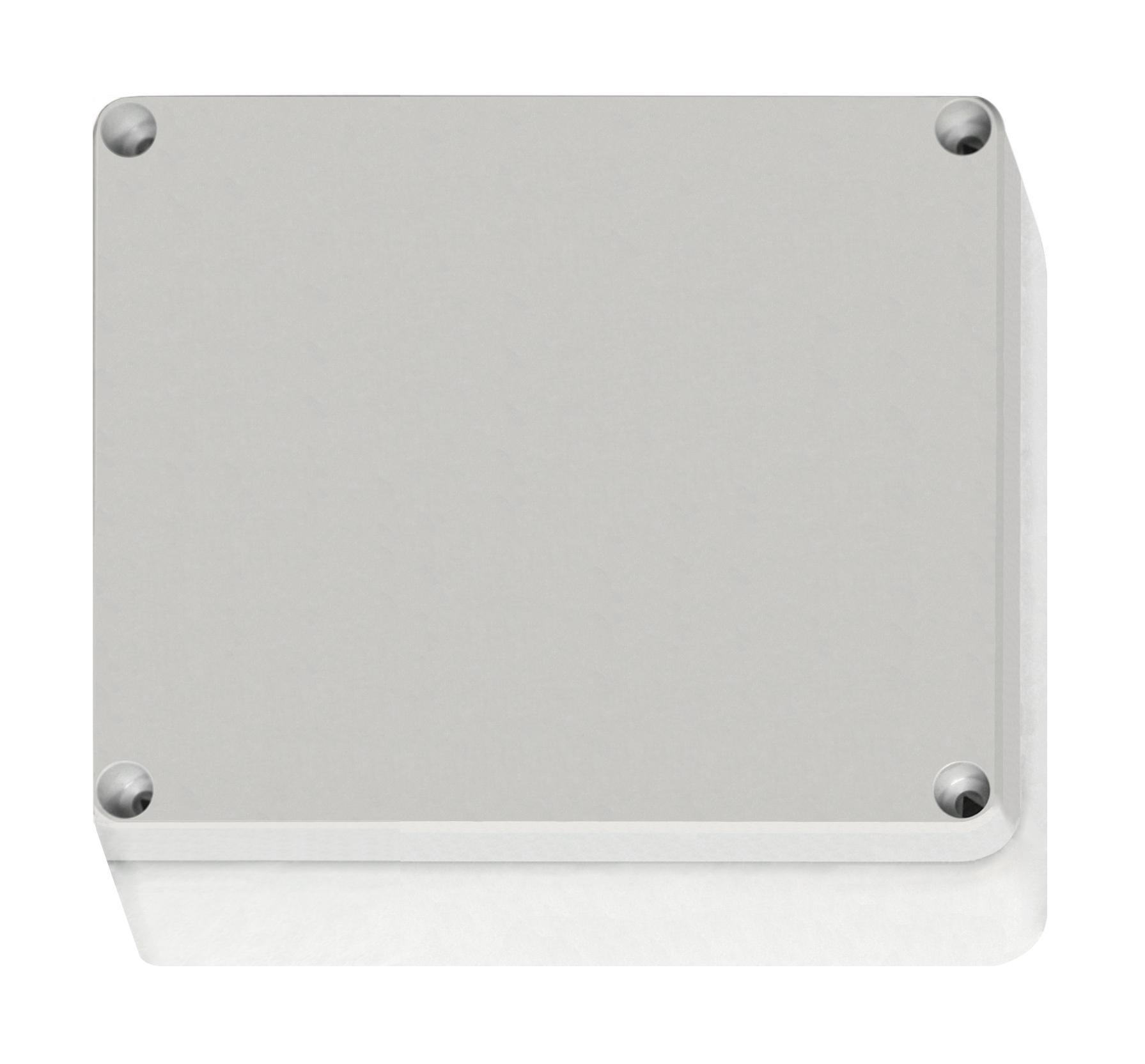 1 Stk ABS Gehäuse+Deckel grau, Scharn., 201x163x98mm, metr. Vorp. IG707025--