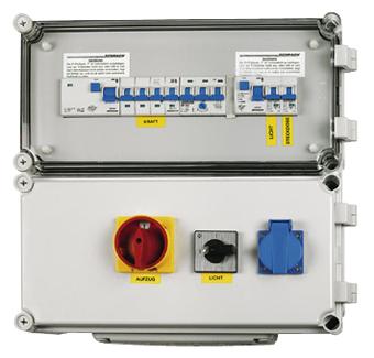 1 Stk Aufzugverteiler mit frequenzumrichterfestem FI IG714001FU