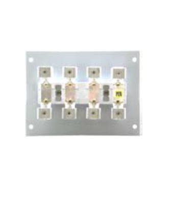 1 Stk VZ-klemmblock (4-fach) KÜK-Einsatz auf HP-platte zu IG7142.. IG714203--