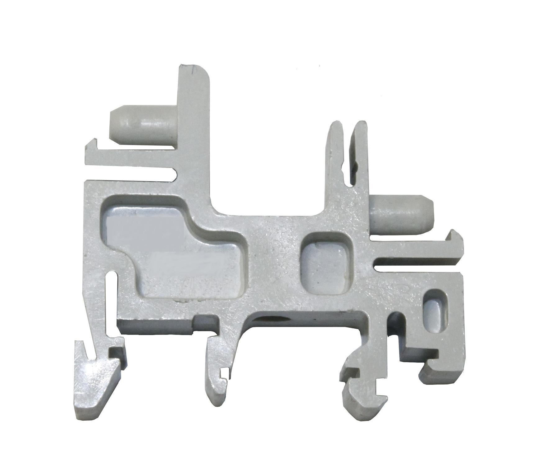 1 Stk Kunststoffträger waagrecht für 2 Klemmschienen 10, 16mm² IK018004-A