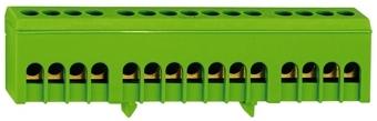 1 Stk Schutzleiterleiterklemme, 15 Abgänge, isolierte Ausführung IK021039I-