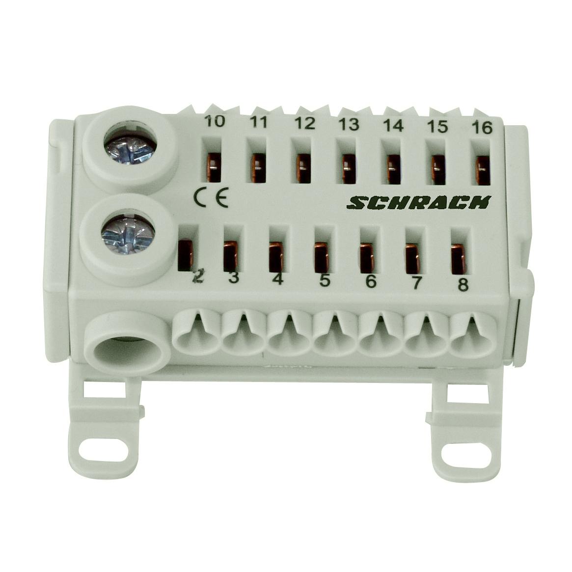 1 Stk EASY CONNECTION BOX schwarz/weiss, 2 x 25 mm², 14 x 4 mm² IK021081--