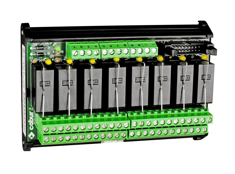 1 Stk Relaismodul 8er, 24VDC/8A, je 2 Wechsler, für DIN-Schiene IK022176--