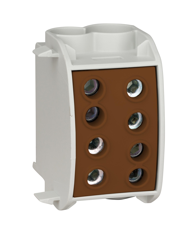 1 Stk Hauptleitungsabzweigklemme 70mm² - 1-polig, isoliert, braun IK026340--