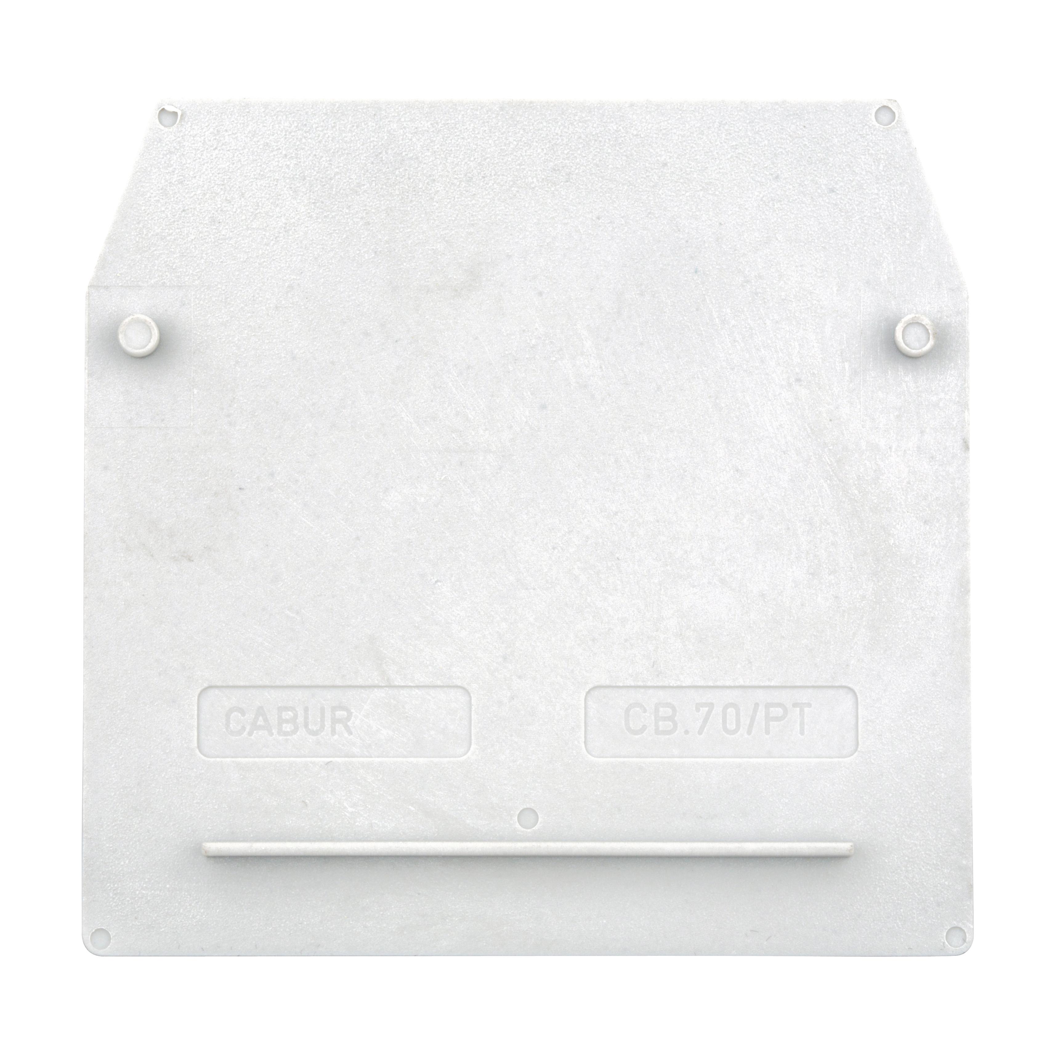 1 Stk Endplatte für Reihenklemme CBD 70mm², grau IK100270-A