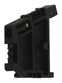 1 Stk Endhalter für DIN-Schiene TH35, schwarz, schraubbar IK123000--