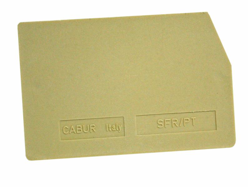 1 Stk Endplatte für Diodenh. u. Sicherungskl. SFR 4mm², beige IK131204--