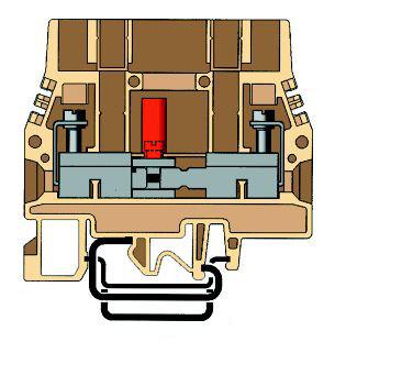 1 Stk Prüftrennklemme 6mm², Type SCB.6 beige IK171006--