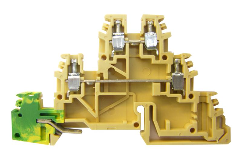 1 Stk Dreistockklemme 2,5mm², Type: TDE.2, beige/gelb/grün IK180002--