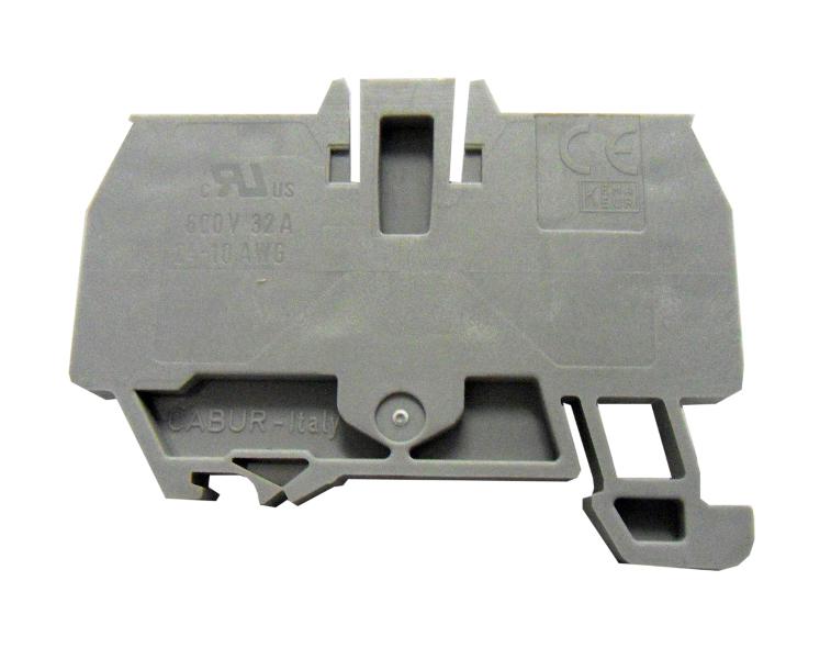 1 Stk Endplatte für Federkraftklemme HMM 6mm², grau IK200206-C