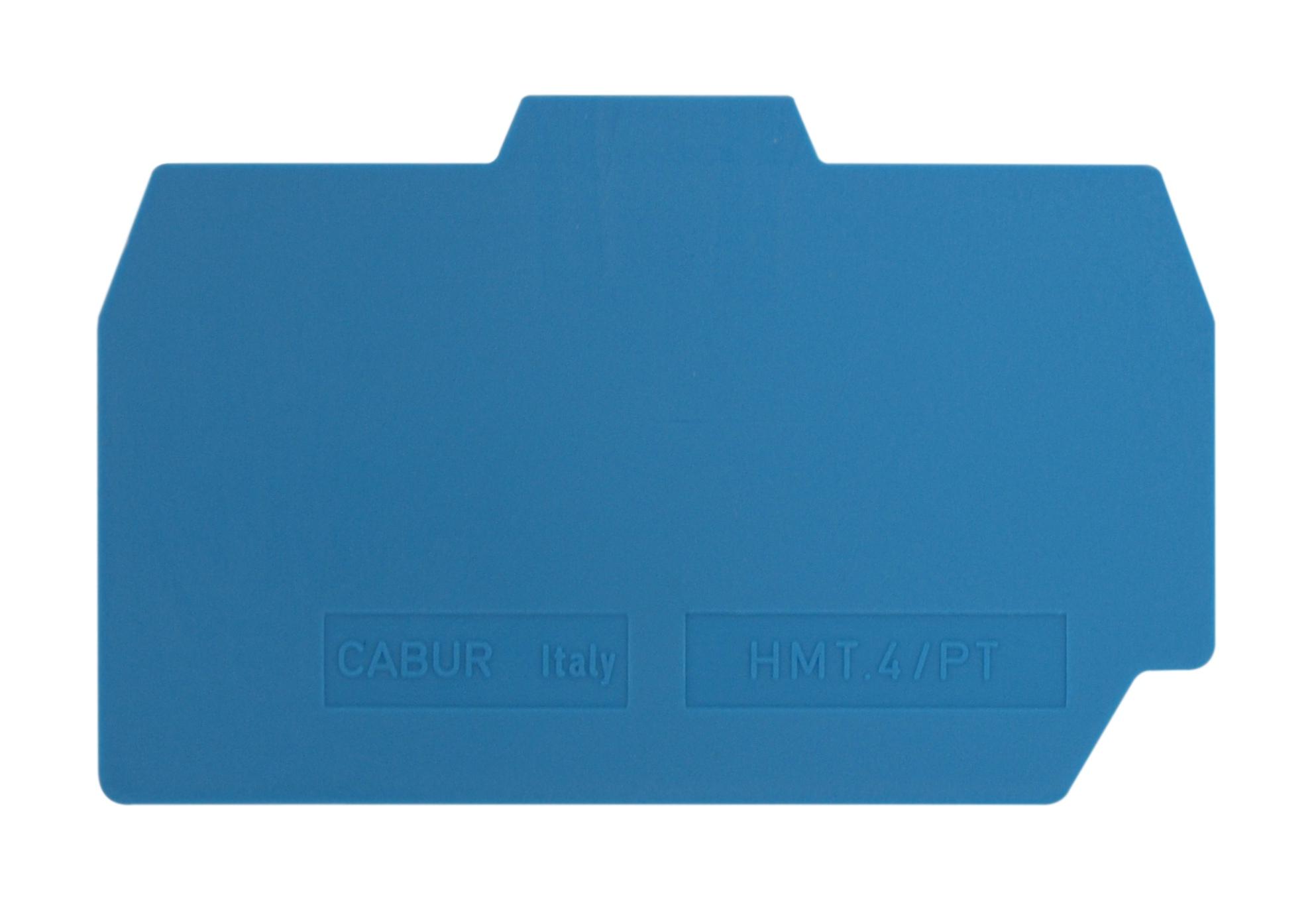 1 Stk Endplatte für Federkraftklemme HMM 4mm², blau IK201204--