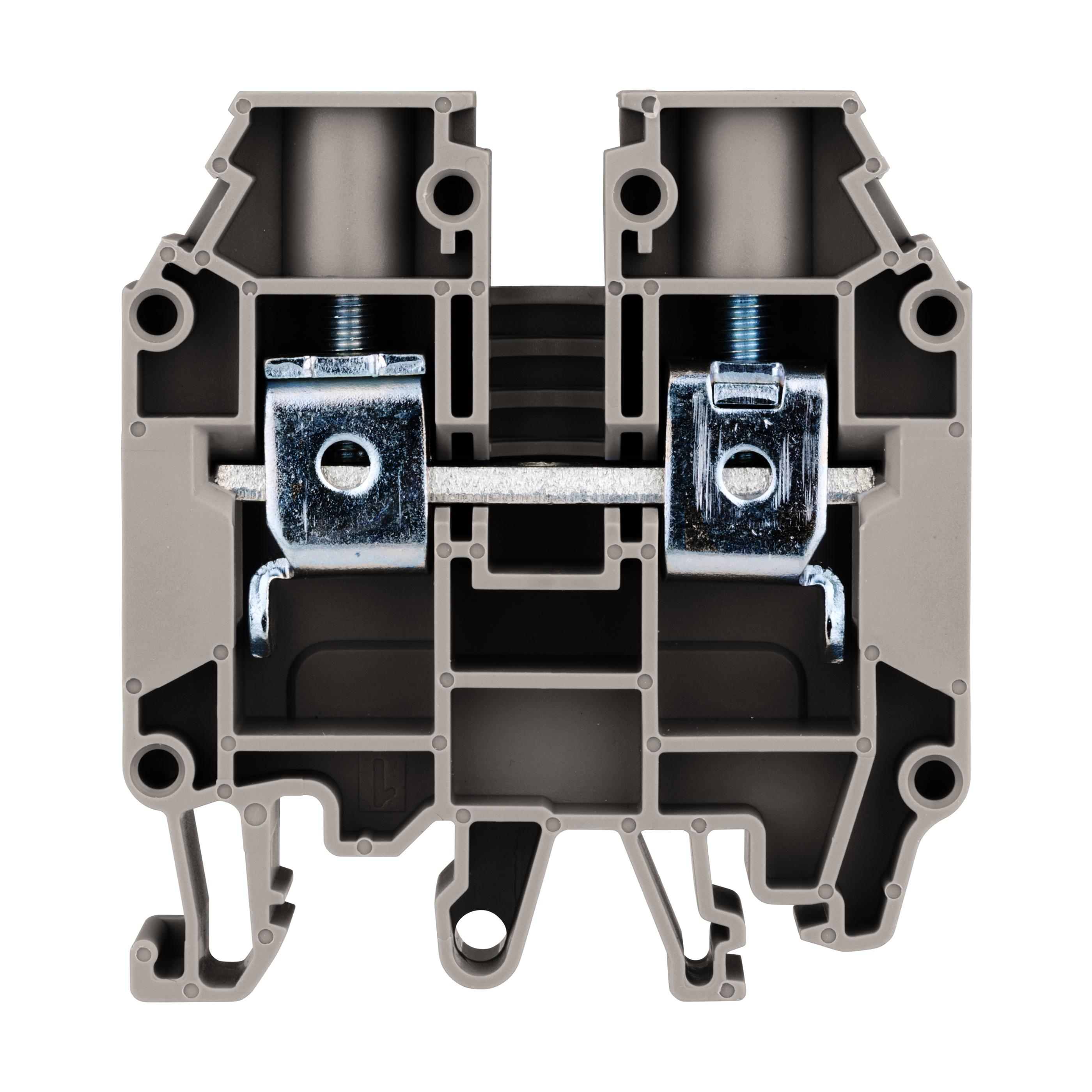 1 Stk Reihenklemme 16mm², Type AVK 16 RD, grau IK600016-A