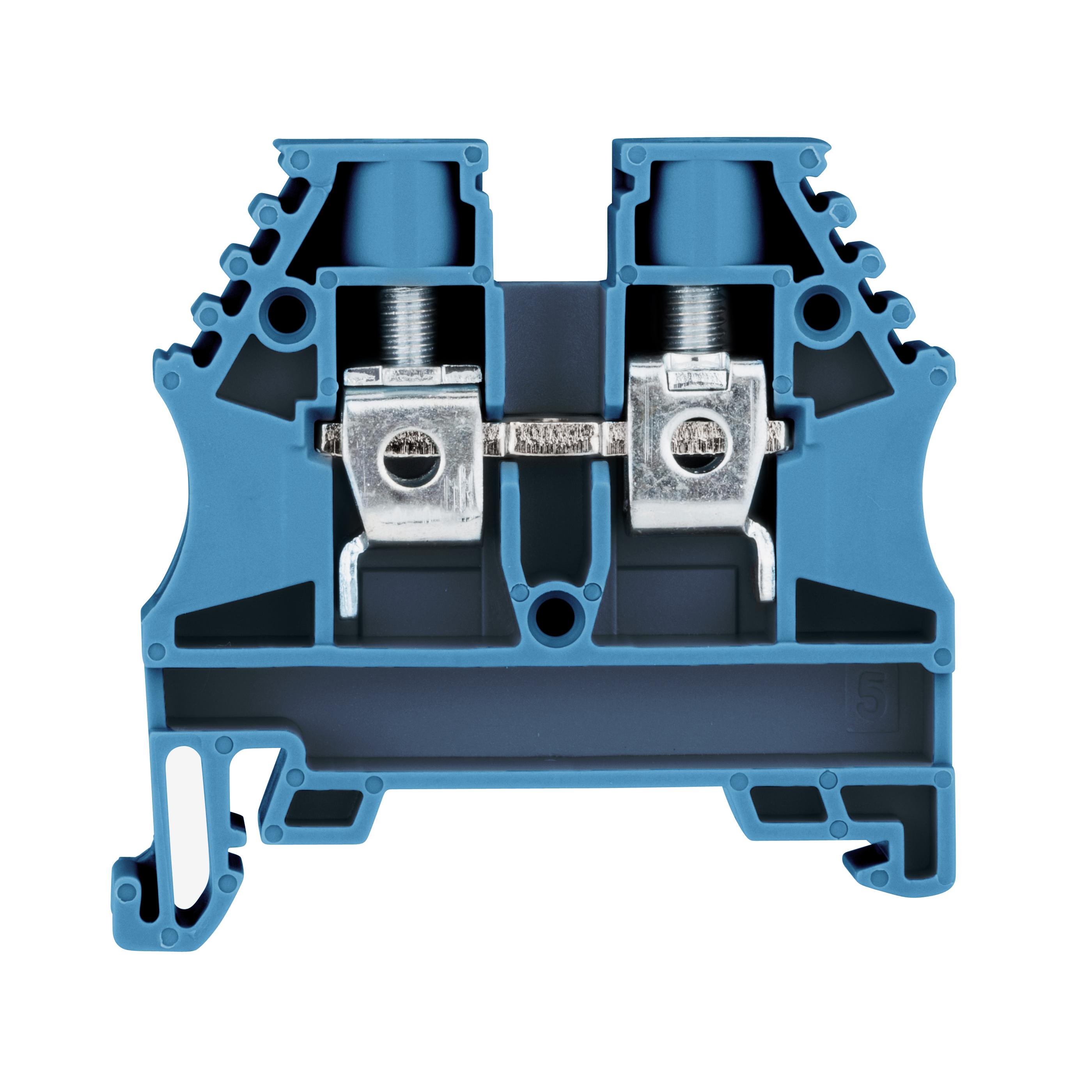1 Stk Reihenklemme 6mm² AVK 6 blau IK601006--