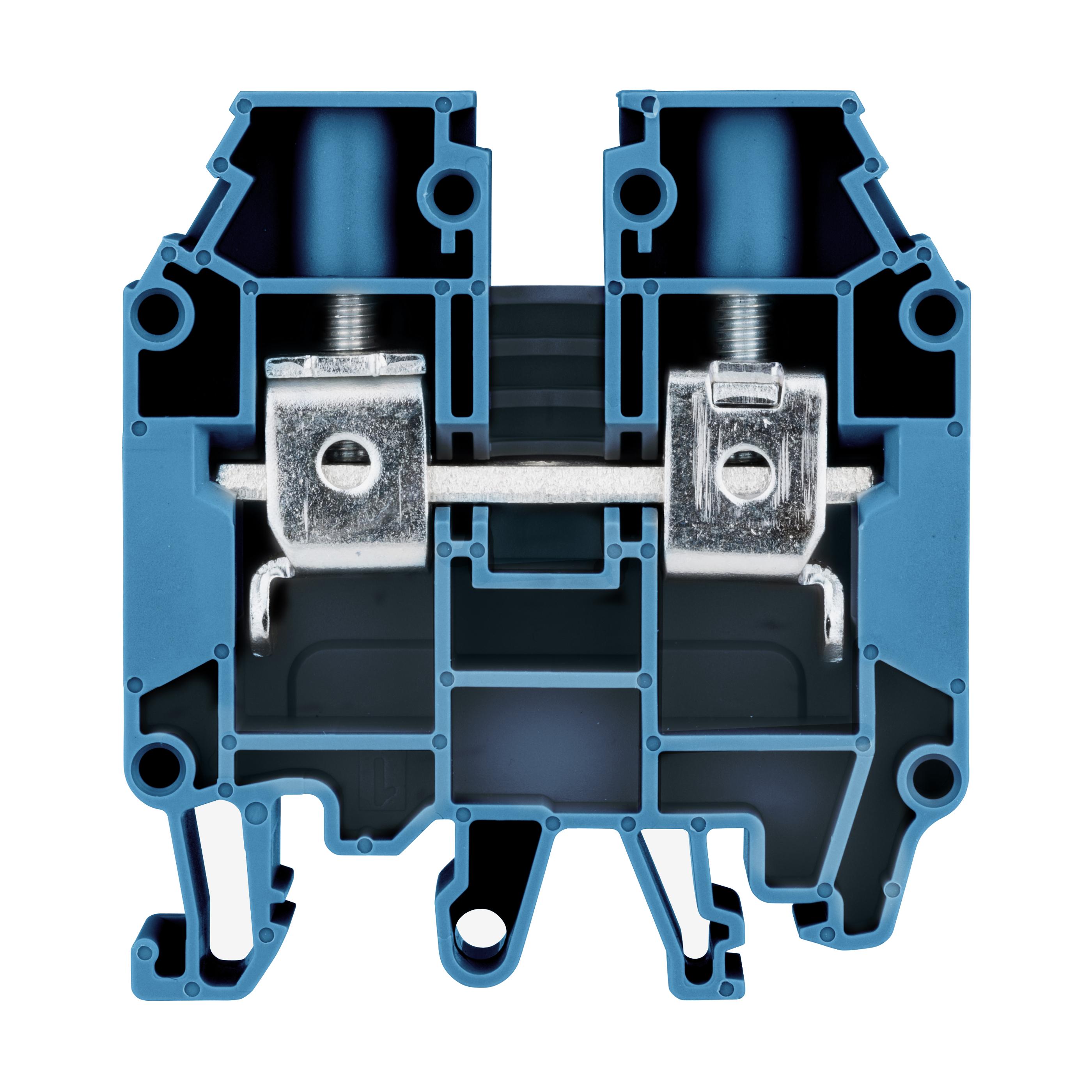 1 Stk Reihenklemme 16mm², Type AVK 16 RD, blau IK601016-A