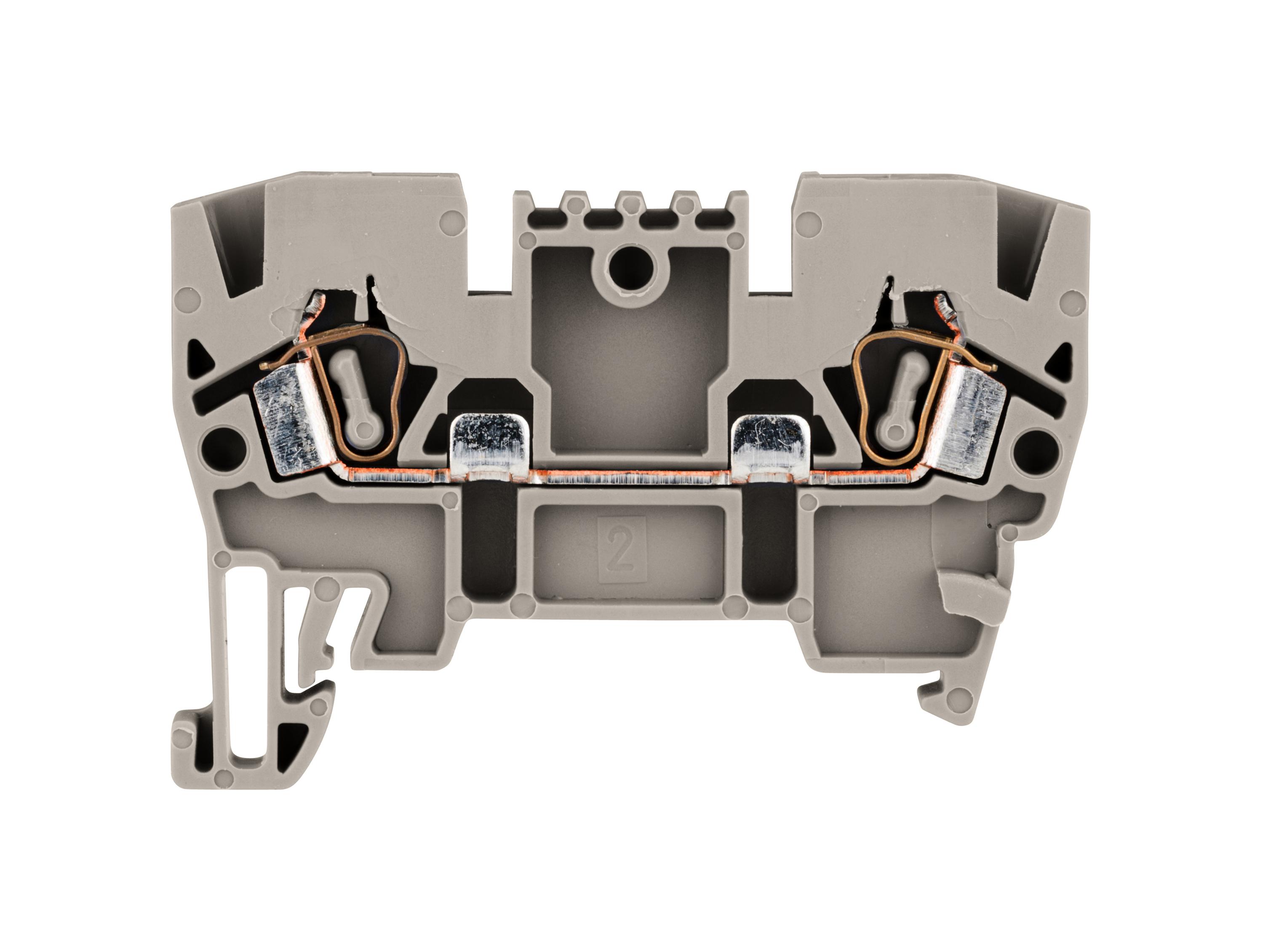 1 Stk Federkraftklemme Type YBK 2,5mm², grau IK610002--