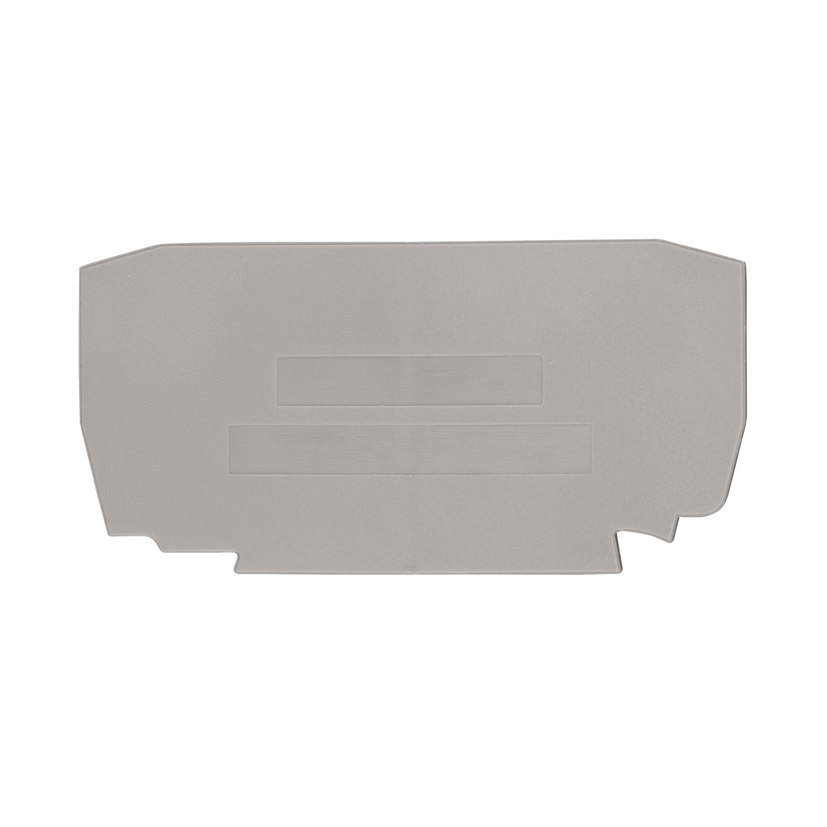 1 Stk Endplatte für Klemme, Type YBK 4mm² grau IK610204--