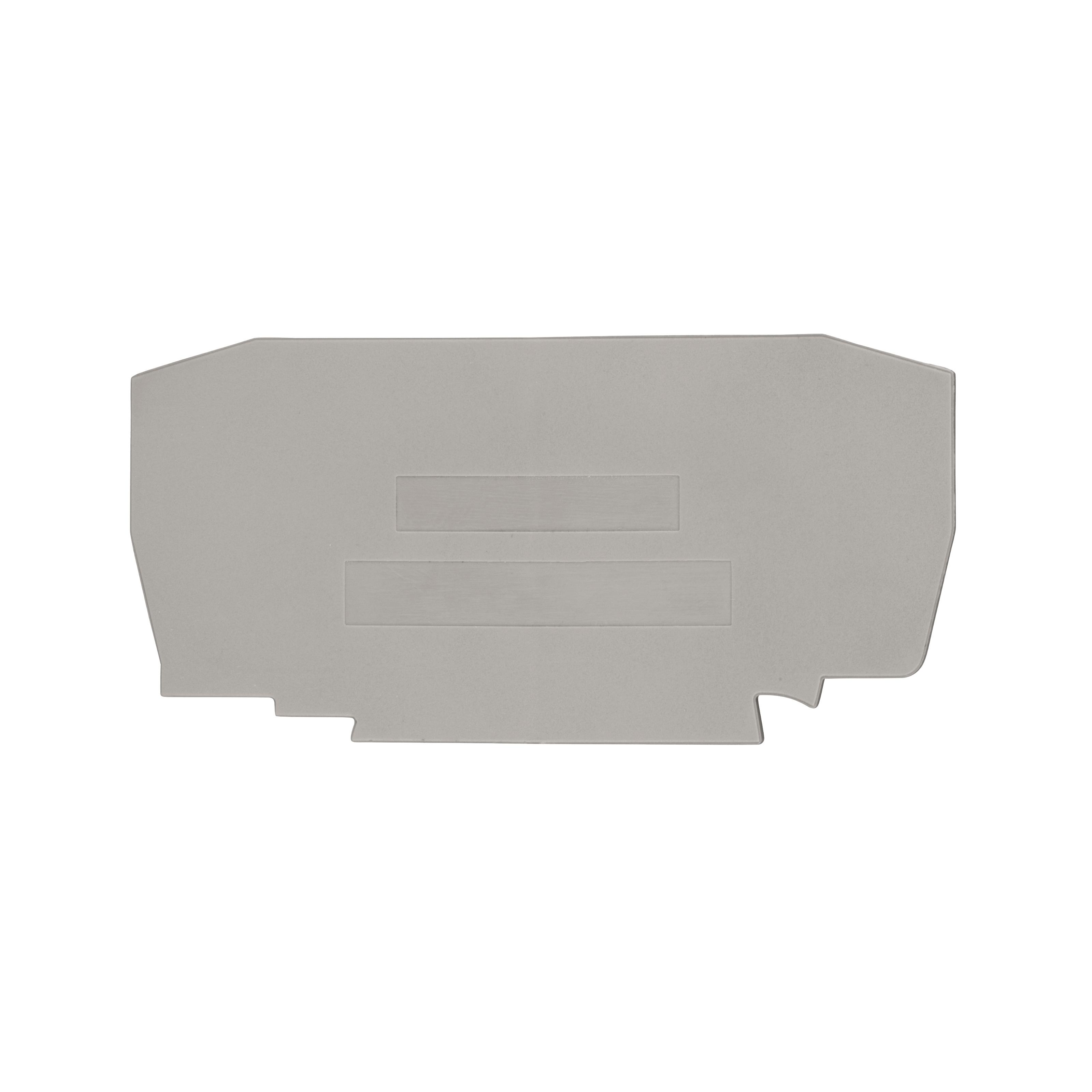 1 Stk Endplatte für Klemme, Type YBK 6mm² grau IK610206--