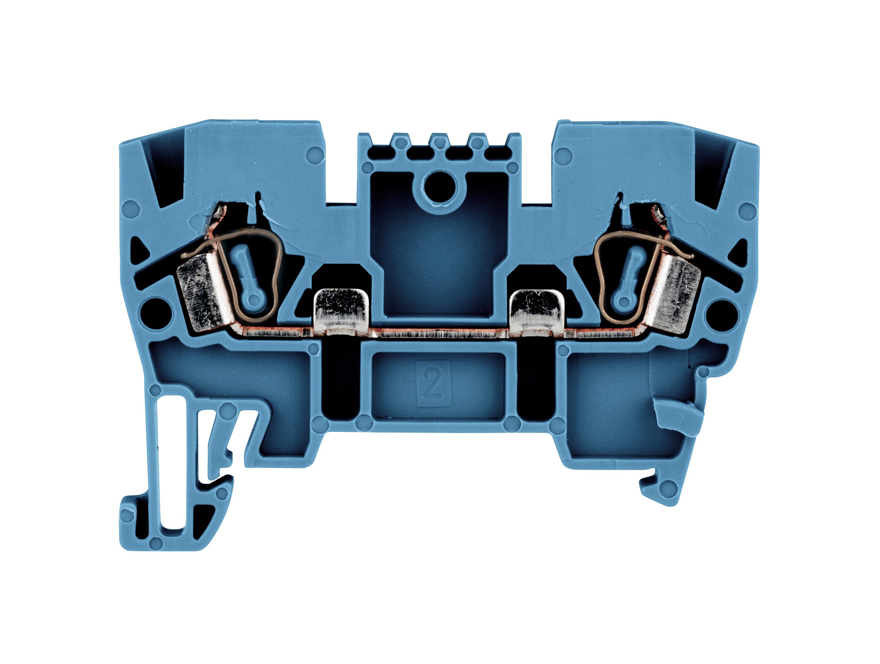 1 Stk Federkraftklemme 2,5mm², Type YBK 2,5mm², blau IK611002--