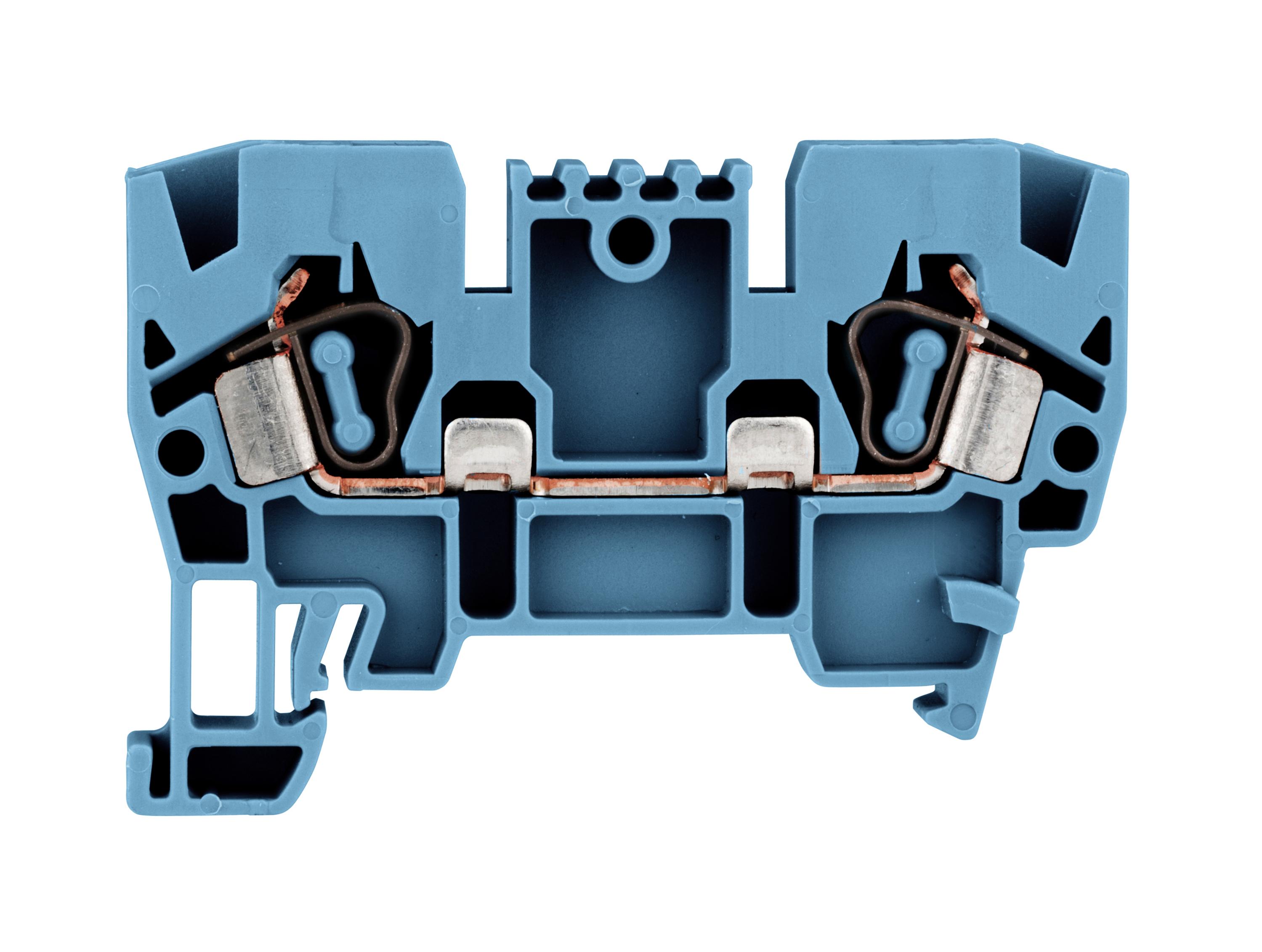 1 Stk Federkraftklemme 4mm², Type YBK 4mm², blau IK611004--