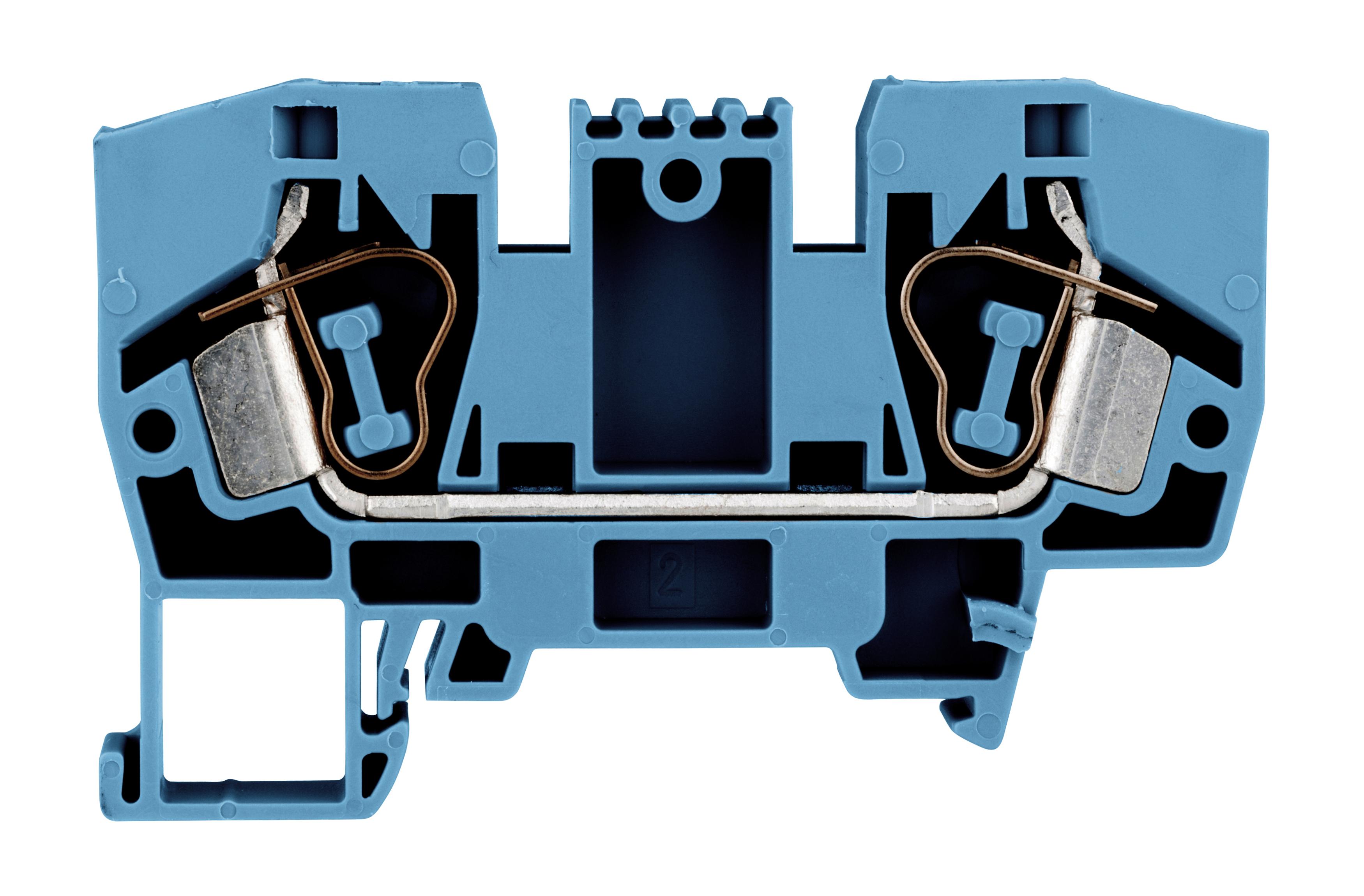 1 Stk Federkraftklemme 10mm², Type YBK 10mm², blau IK611010--