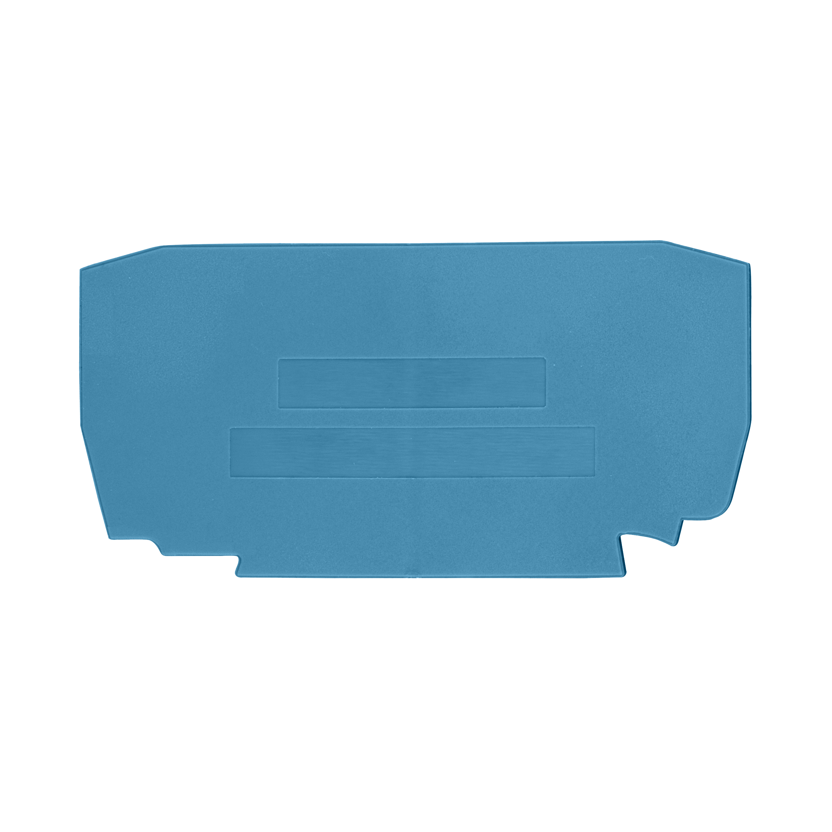1 Stk Endplatte für Federkraftklemme, Type YBK 4mm², blau IK611204--