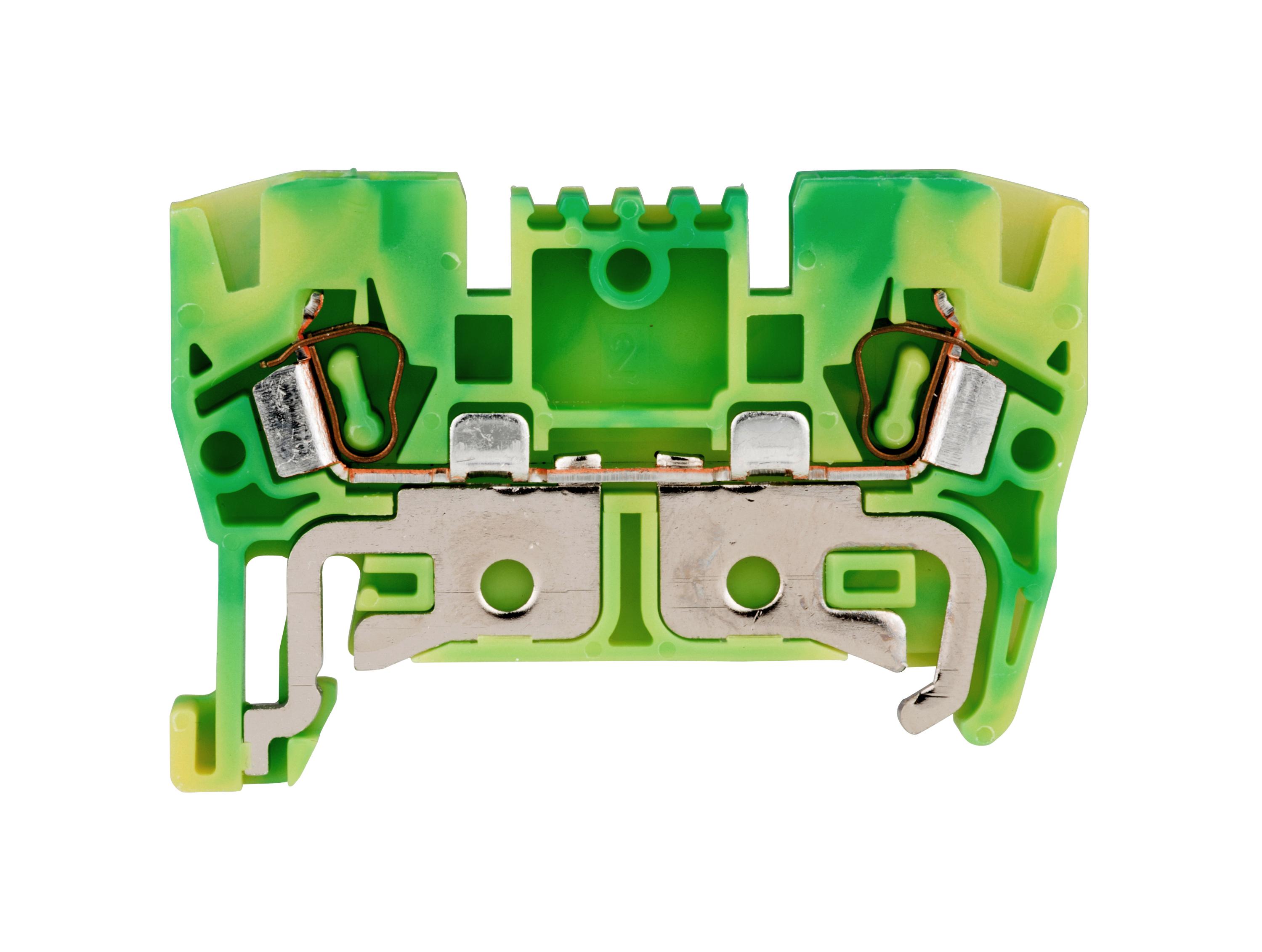 1 Stk Schutzleiter-Federkraftklemme 2,5mm², Type YBK2,5T gelb-grün IK632002--