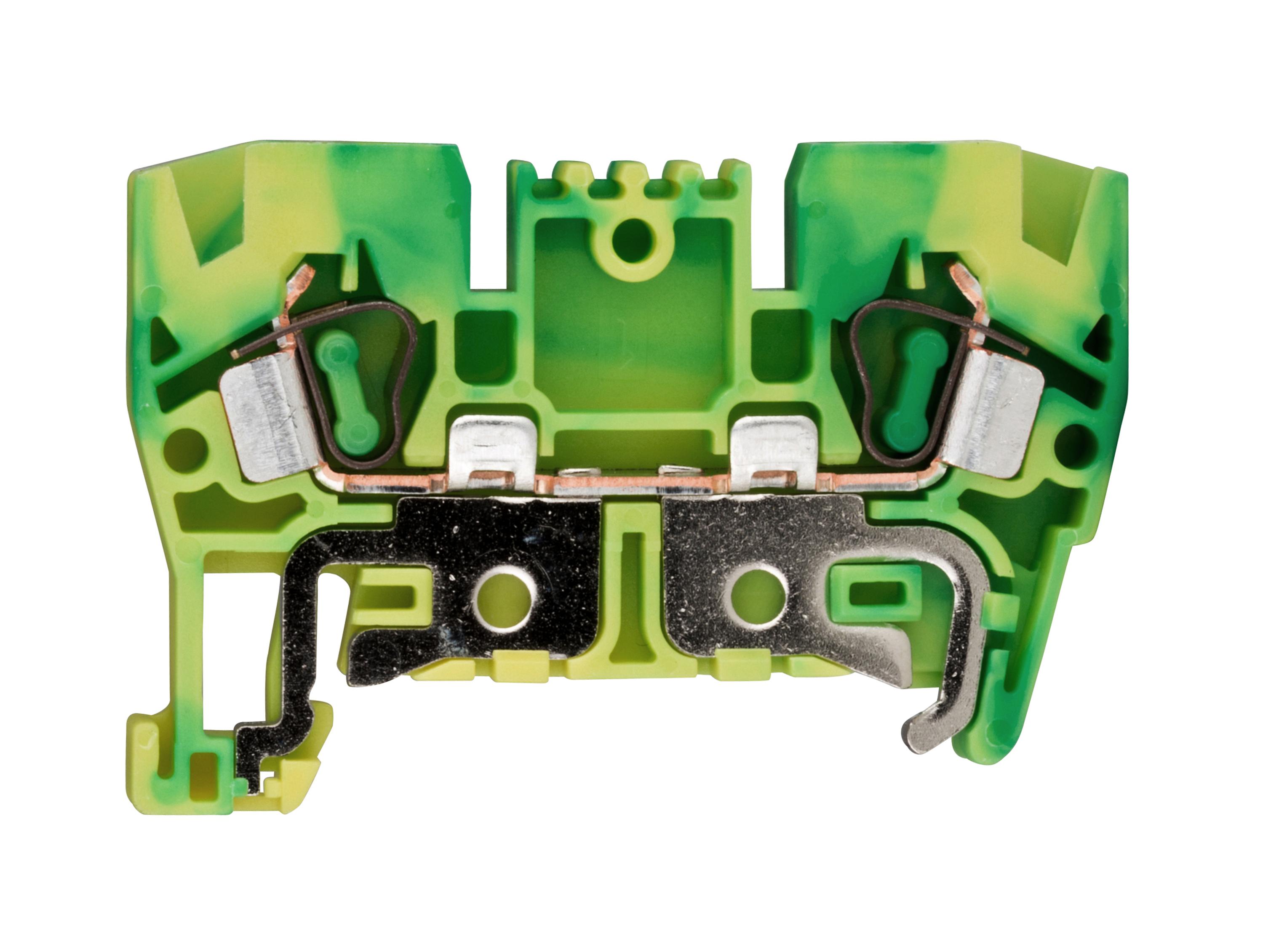 1 Stk Schutzleiter-Federkraftklemme 4mm², Type YBK4T gelb-grün IK632004--