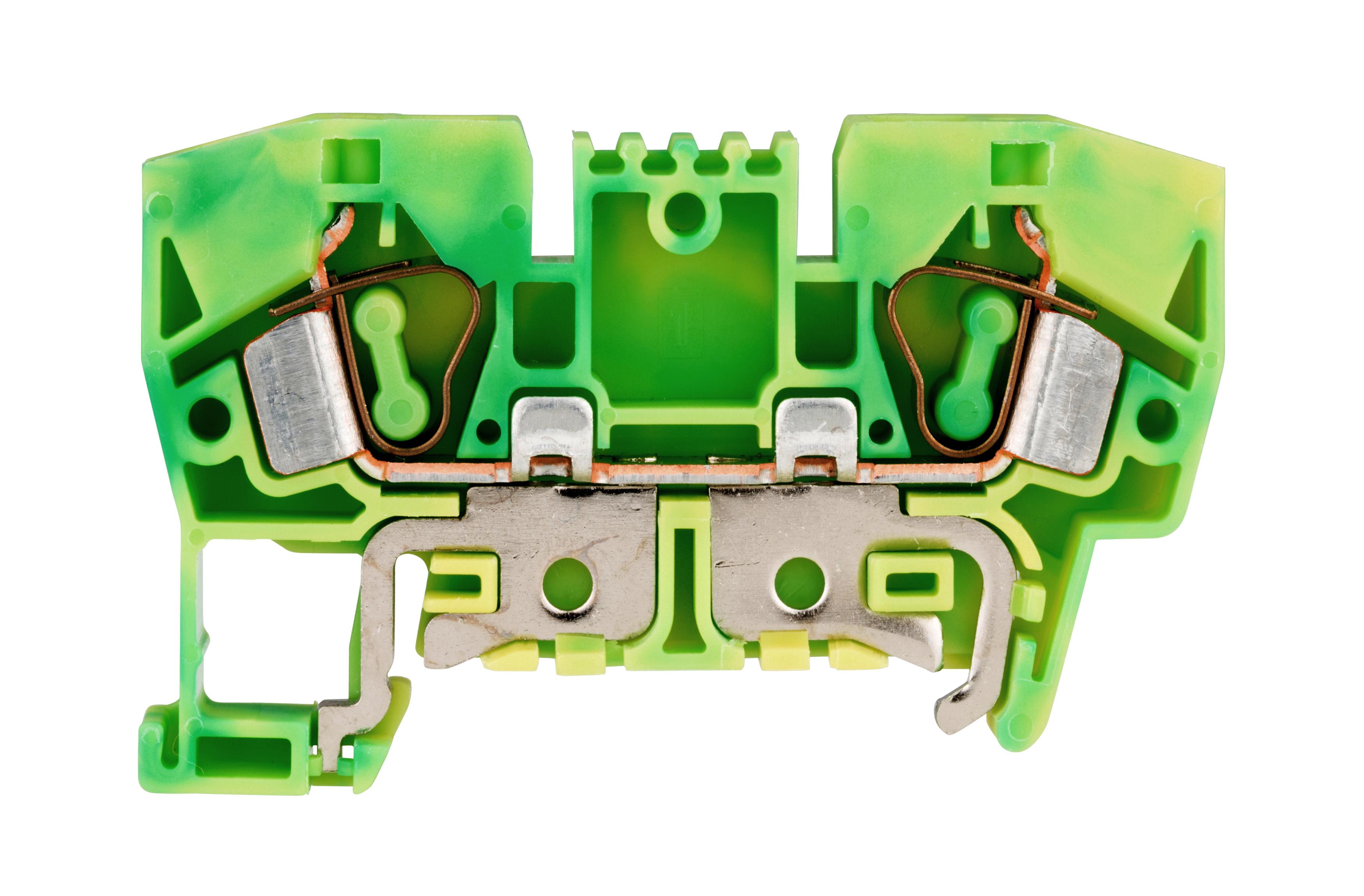 1 Stk Schutzleiter-Federkraftklemme 6mm², Type YBK6T gelb-grün IK632006--