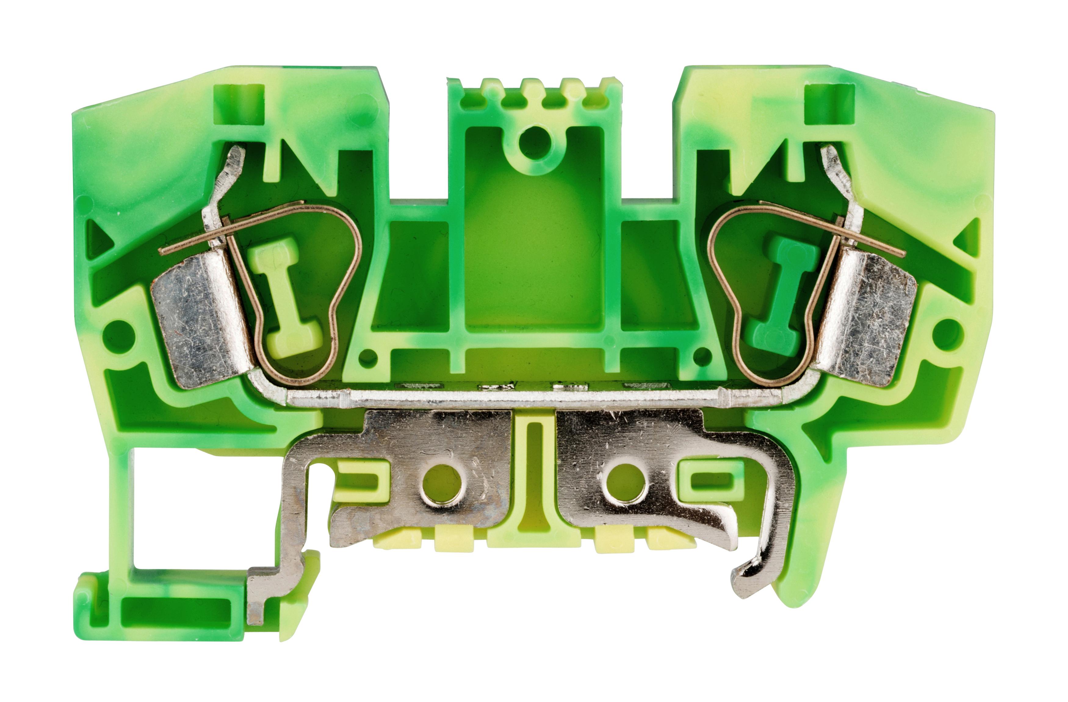 1 Stk Schutzleiter-Federkraftklemme 10mm², Type YBK10T gelb-grün IK632010--