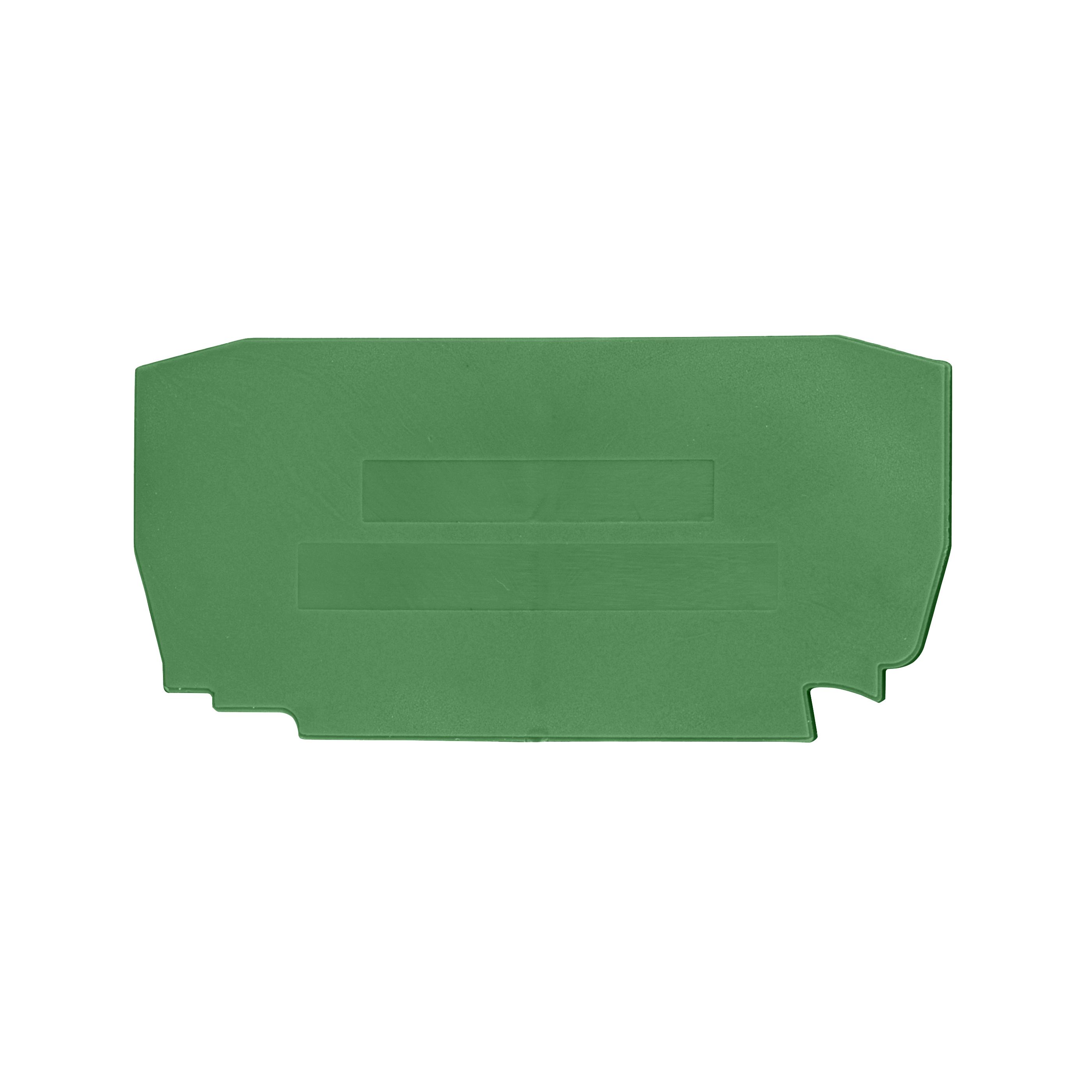 1 Stk Endplatte für Federkraftklemme Type YBK 2,5mm² grün IK632202--