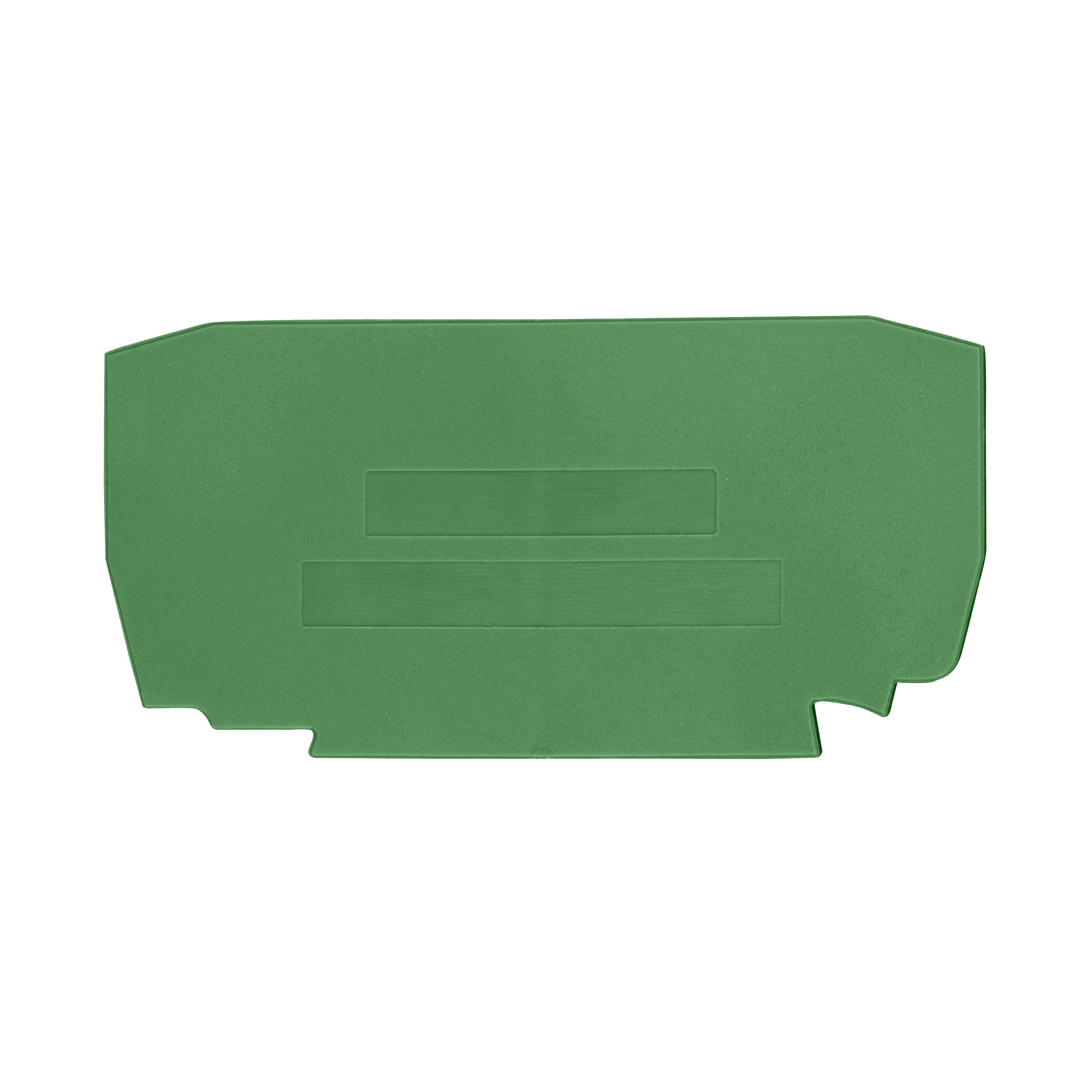 1 Stk Endplatte für Federkraftklemme Type YBK 4mm² grün IK632204--