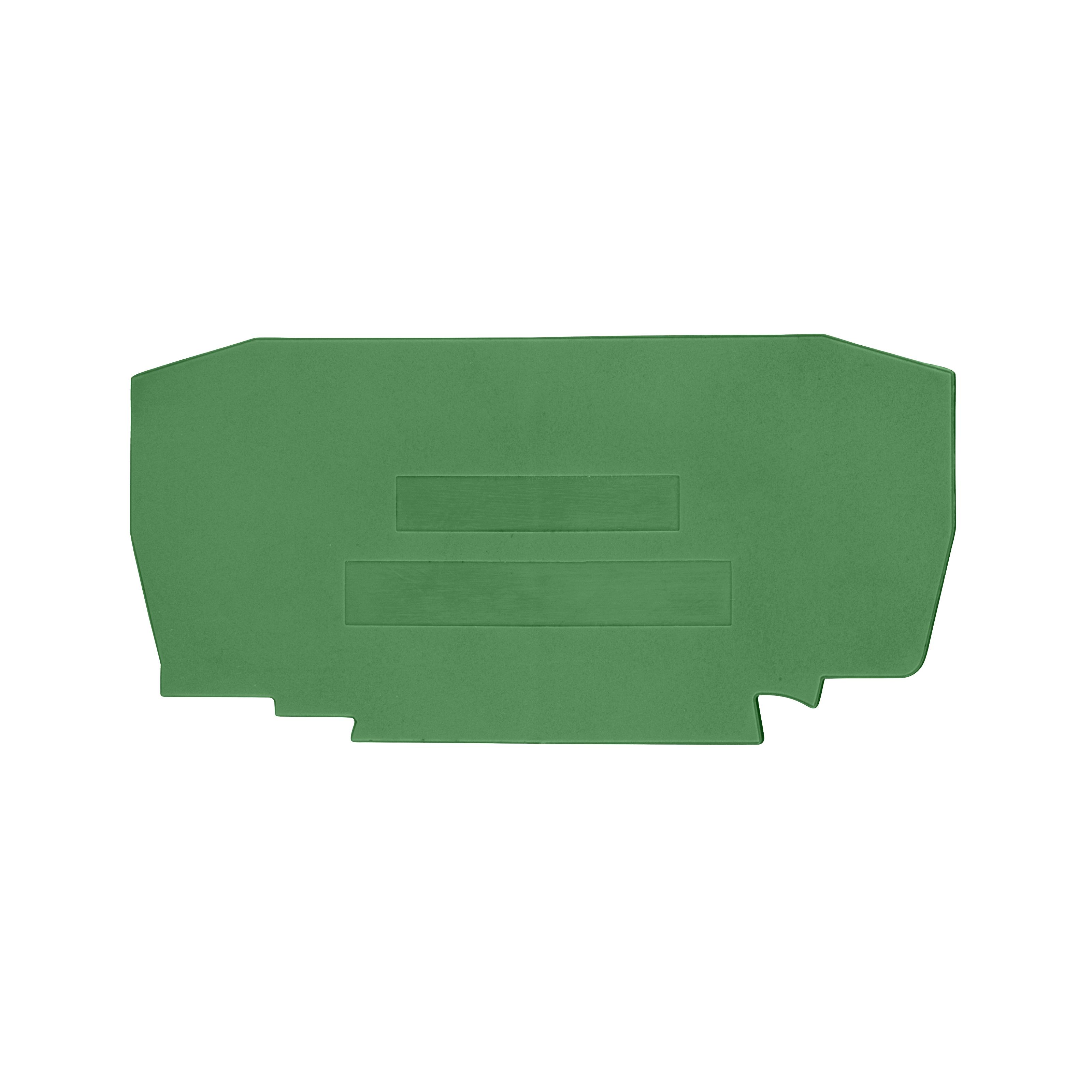 1 Stk Endplatte für Federkraftklemme Type YBK 6mm² grün IK632206--